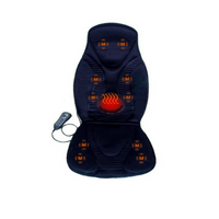 FIVE S FS8812 Vibration Massage Seat Cushion, Massager with Heat, 10 Vibration Motors for Neck, Shoulders, Back/Lumbar, Thighs for Home, Office, Car (Black)