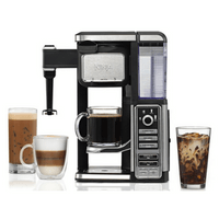 Ninja Single-Serve, Pod-Free Coffee Maker Bar with Hot and Iced Coffee, Auto-iQ, Built-In Milk Frother, 5 Brew Styles, and Water Reservoir (CF112)